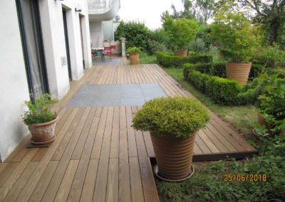 Terrasse bois et dallage