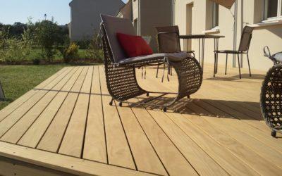 Terrasse bois dans les Vosges