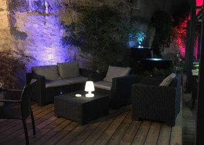 Terrasse bois avec mobilier