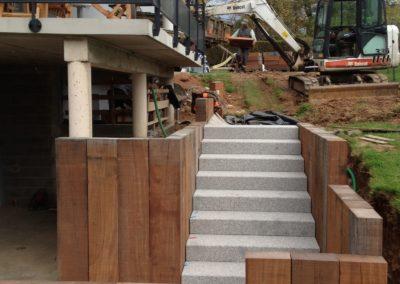 Escalier et bois