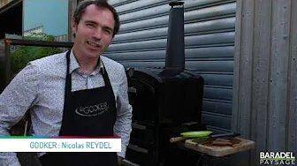Four grill gastronomique au feu de bois